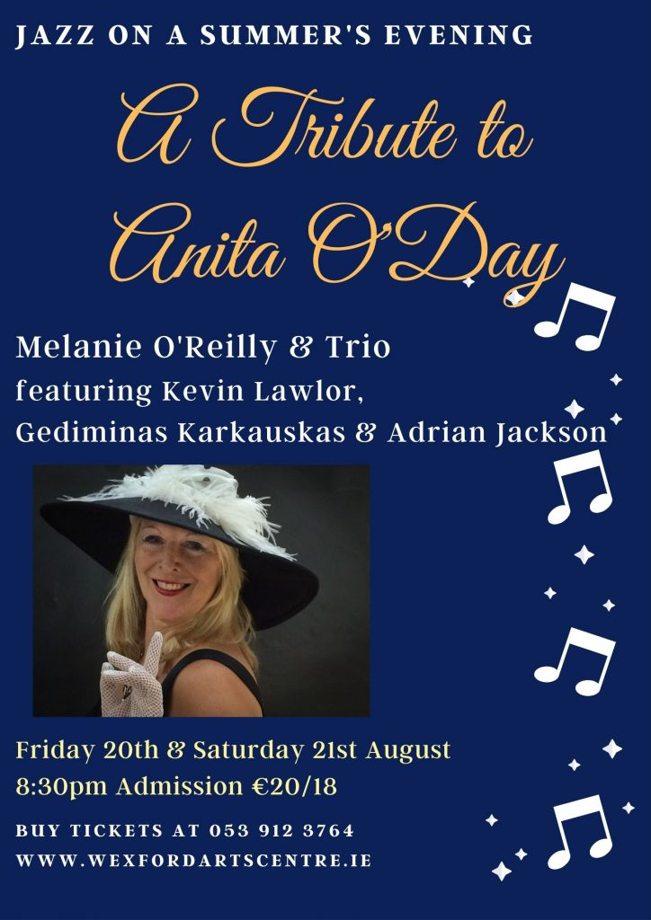 A Tribute to Anita O'Day WAC Poster August 2021